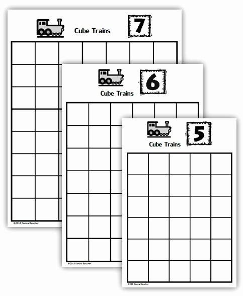 Composing and Decomposing Numbers Worksheet Luxury Posing and De Posing Numbers Cube Trains Math