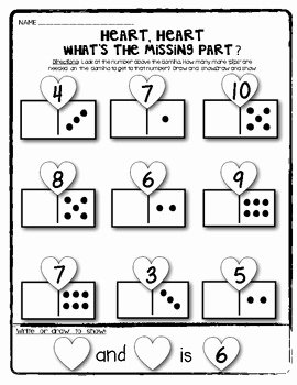 Composing and Decomposing Numbers Worksheet Luxury Valentine Domino Math Worksheets Posing and