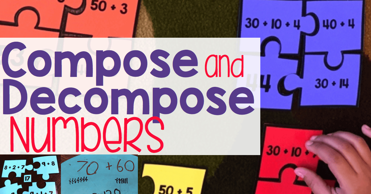 Composing and Decomposing Numbers Worksheet New Pose & De Pose Numbers for Addition & Subtraction
