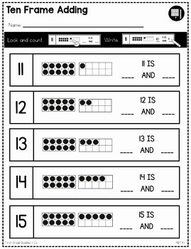 Composing and Decomposing Numbers Worksheet New Posing and De Posing Numbers Nbt K 1