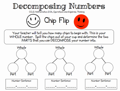 Composing and Decomposing Numbers Worksheet New the Teacher S Chair Posing and De Posing Numbers