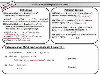 Composite Function Worksheet Answer Key Awesome Posite Functions Mastery Worksheet by Joy S Math