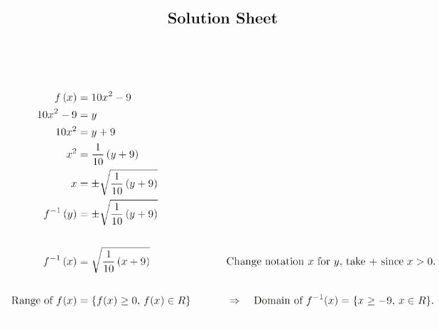 Composite Function Worksheet Answer Key Elegant Posite Function and Inverse Function Worksheets by
