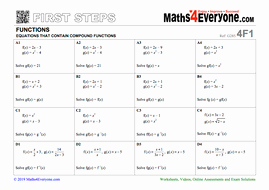 Composite Function Worksheet Answer Key Inspirational Equations with Posite Functions Worksheet with Full