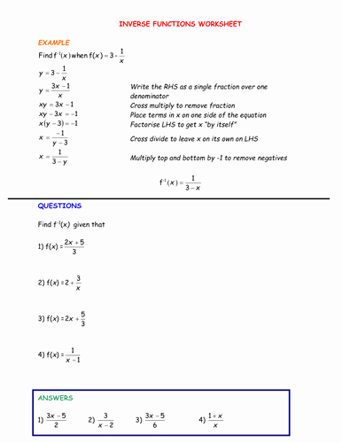 Composite Functions Worksheet Answers Awesome All Things Functions by Srcavadino Teaching Resources Tes