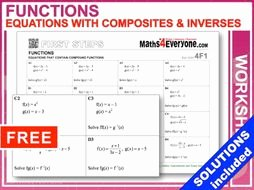 Composite Functions Worksheet Answers Elegant Equations with Posite Functions Worksheet with Full
