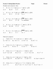 Composite Functions Worksheet Answers Lovely Posite Function Worksheet Key Posite Function