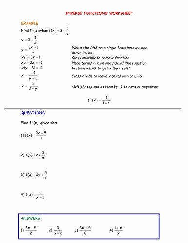 Composite Functions Worksheet Answers Lovely Posite Functions Worksheet