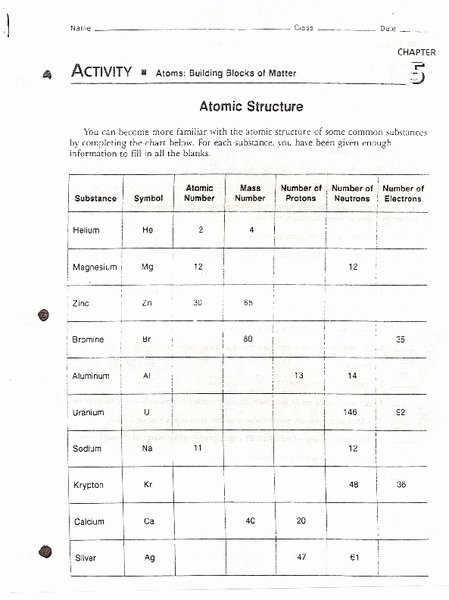 Composition Of Matter Worksheet Answers Beautiful atoms Building Blocks Of Matter Worksheet for 7th 10th