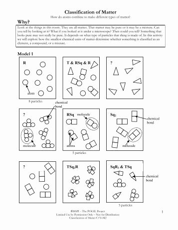 Composition Of Matter Worksheet Awesome Practice Problems Classification Of Matter isotopes