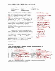 Composition Of Matter Worksheet Beautiful Position Matter Worksheet Answers