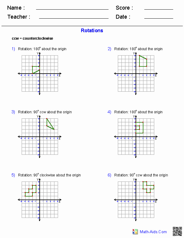 Composition Of Transformations Worksheet Inspirational Geometry Worksheets