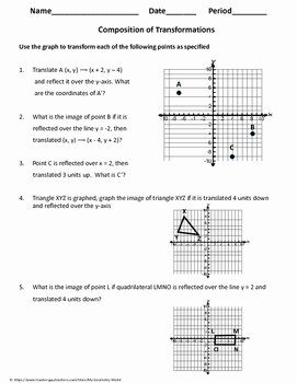 Composition Of Transformations Worksheet New Geometry Worksheet Position Of Transformations by My