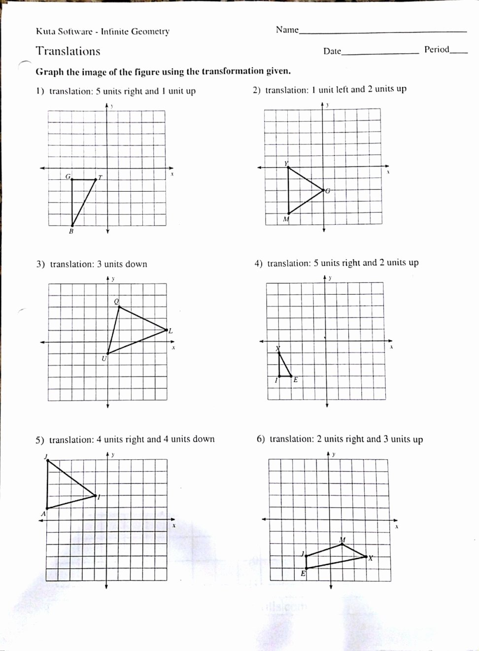 Composition Of Transformations Worksheet Unique Geometry Worksheets Chapter 2 Worksheet Mogenk Paper Works