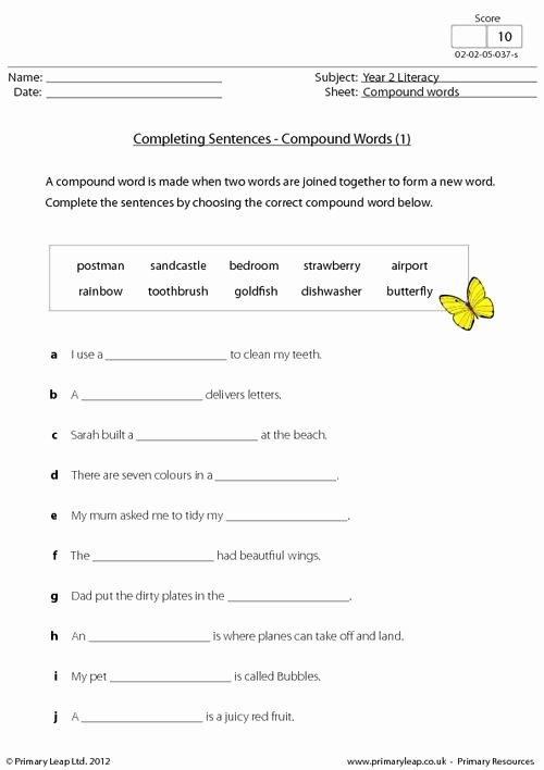 Compound Complex Sentences Worksheet Beautiful 13 Best Of Worksheets Pound Sentences Pound