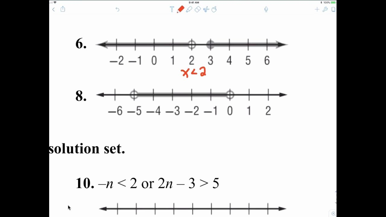 Compound Inequalities Worksheet Answers Awesome Algebra 1 7th Period 5 4 Worksheet Compound Inequalities