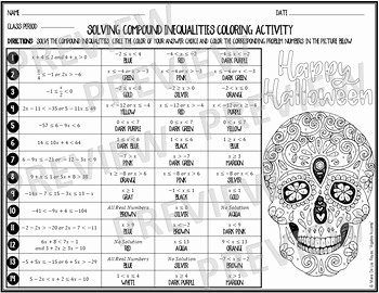 Compound Inequalities Worksheet Answers Beautiful solving Pound Inequalities Dia De Los Muertos