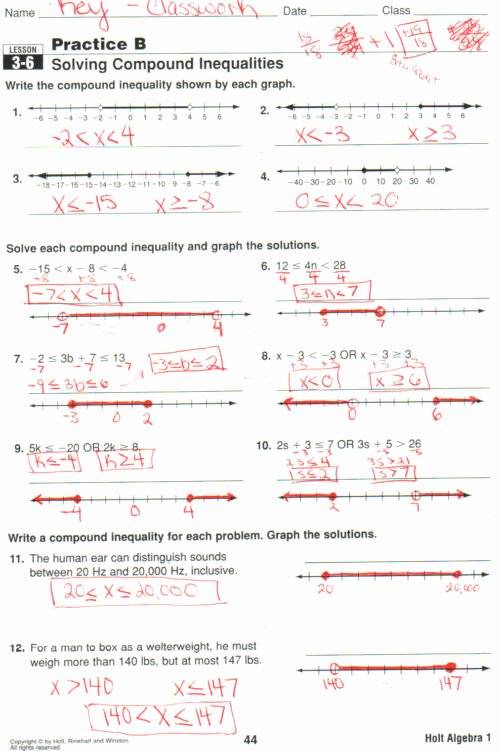 Compound Inequalities Worksheet Answers Best Of Learning Experience Test Pound Inequalities Worksheet