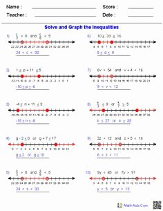 Compound Inequalities Worksheet Answers Unique 1000 Images About Math Aids On Pinterest