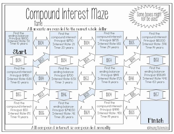 Compound Interest Worksheet Answers Awesome 16 Best Simple & Pound Interest Images On Pinterest