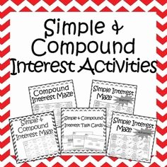 Compound Interest Worksheet Answers Luxury 1000 Images About Math Simple Interest On Pinterest