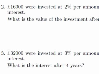 Compound Interest Worksheet Answers New Percentages Reverse Percentage and Pound Interest