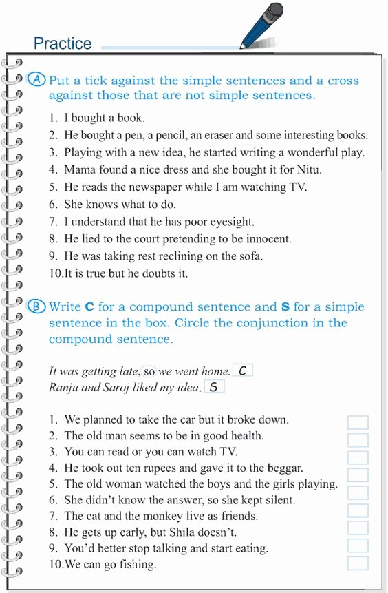 Compound Sentences Worksheet with Answers Awesome Pound Plex Sentences Worksheet 171 Answer Key 1000