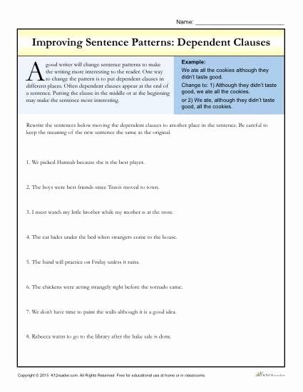 Compound Sentences Worksheet with Answers Unique Pound Plex Sentences Worksheet 171 Answer Key