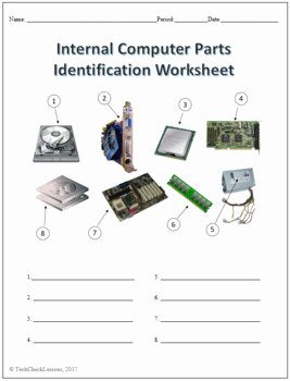 Computer Basics Worksheet Answer Key Beautiful 3 Puter Parts Labeling Worksheets Activity by Techcheck