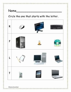 Computer Basics Worksheet Answer Key Fresh Kindergarten Puter Worksheets