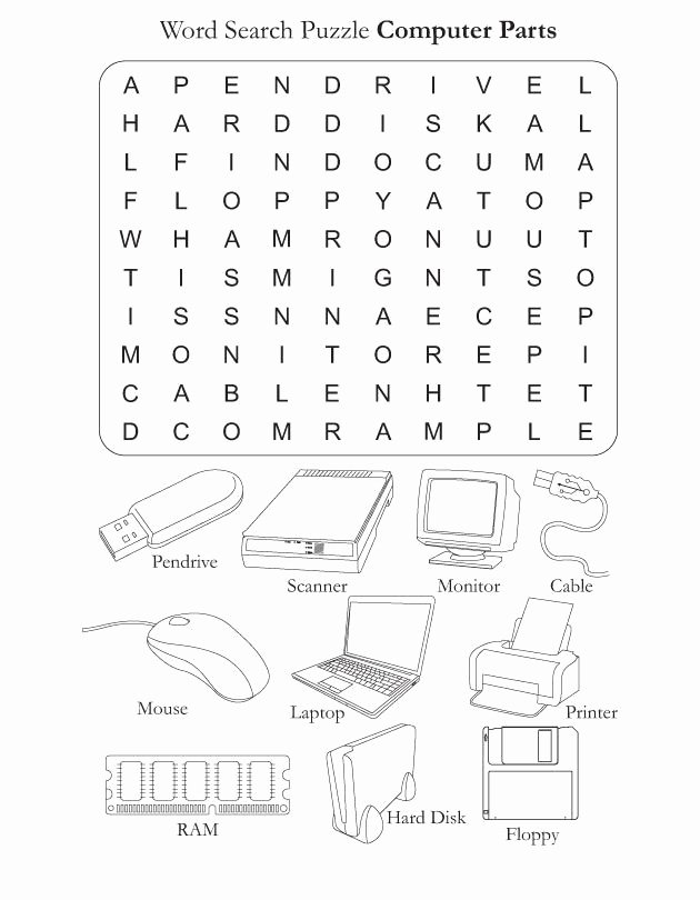 Computer Basics Worksheet Answer Key Luxury Parts Of the Puter Worksheets