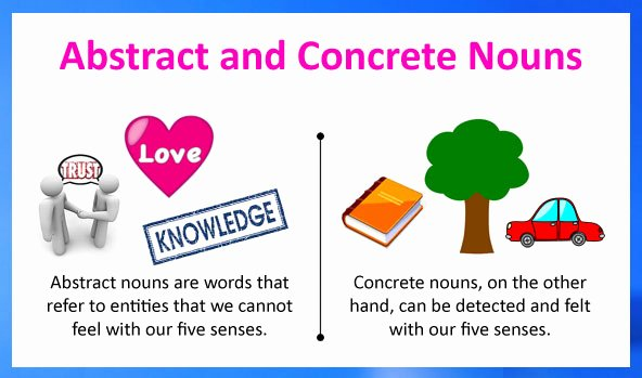 Concrete and Abstract Nouns Worksheet Fresh Abstract Nouns and Concrete Nouns