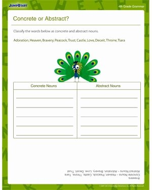 Concrete and Abstract Nouns Worksheet Lovely Abstract Nouns Abstract and Worksheets On Pinterest