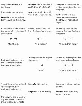 Conditional Statement Worksheet Geometry Beautiful Conditional Statements Interactive Foldable by Mrs E