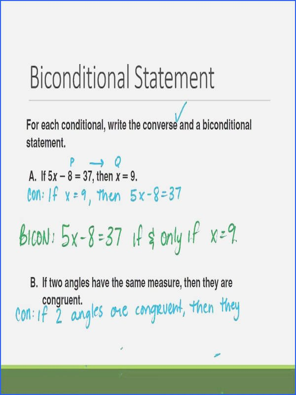 Conditional Statement Worksheet Geometry Elegant Conditional Statements Worksheet