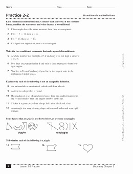 Conditional Statement Worksheet Geometry Fresh Geometry Conditional Statements Worksheet with Answers the