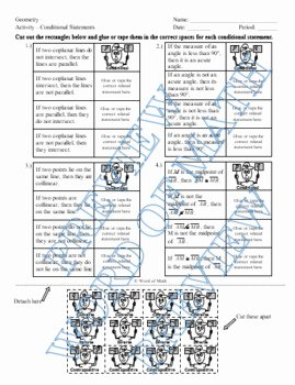 Conditional Statement Worksheet Geometry Inspirational Geometry Worksheet and Partner Activity Conditional