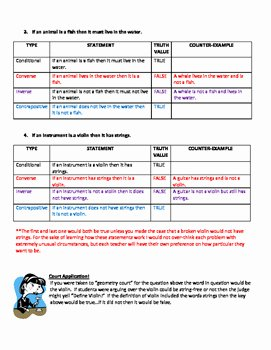 Conditional Statement Worksheet Geometry Luxury Geometry Logic with Conditional Statements Converse