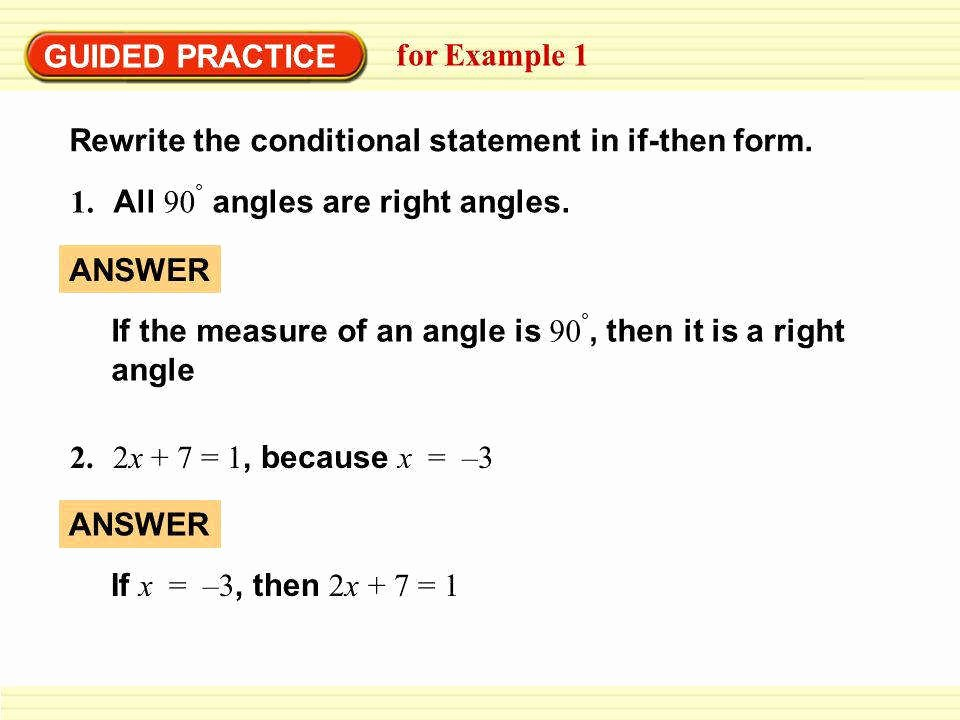 Conditional Statement Worksheet Geometry New Conditional Statements Worksheet