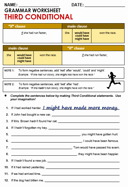 Conditional Statements Worksheet with Answers Lovely Third Conditional All Things Grammar