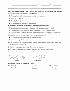 Conditional Statements Worksheet with Answers Unique Geometry Conditional Statements Worksheet with Answers