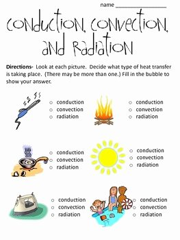 Conduction Convection and Radiation Worksheet Beautiful Conduction Convection and by Math and Science Lover