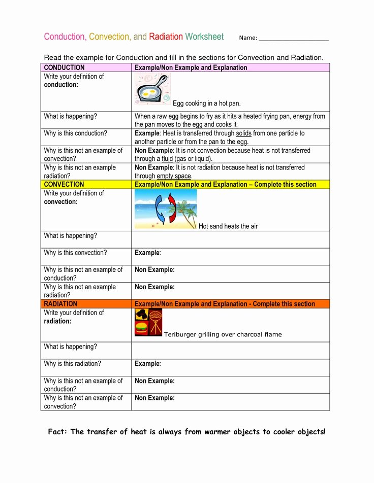 Conduction Convection Radiation Worksheet Beautiful 17 Best Images About Science On Pinterest