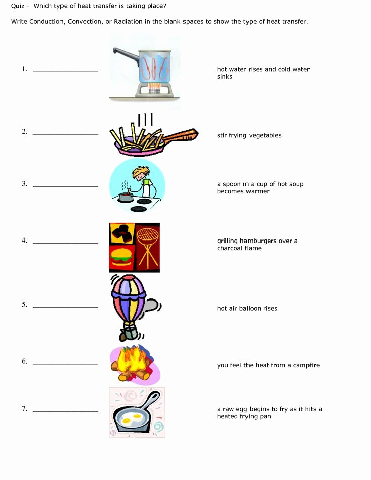 Conduction Convection Radiation Worksheet Best Of Conduction Convection Radiation Worksheet