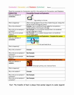 Conduction Convection Radiation Worksheet New 1000 Images About Science On Pinterest