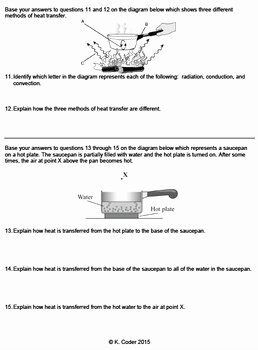 Conduction Convection Radiation Worksheet Unique Worksheet Conduction Convection & Radiation