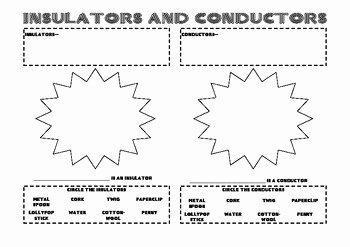 Conductors and Insulators Worksheet Awesome Insulators and Conductors Worksheet by the Eternal Teacher