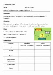 Conductors and Insulators Worksheet Elegant English Worksheets Electrical Conductors and Insulators