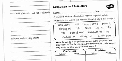 Conductors and Insulators Worksheet Lovely 14 Best Of Properties Metals Worksheet