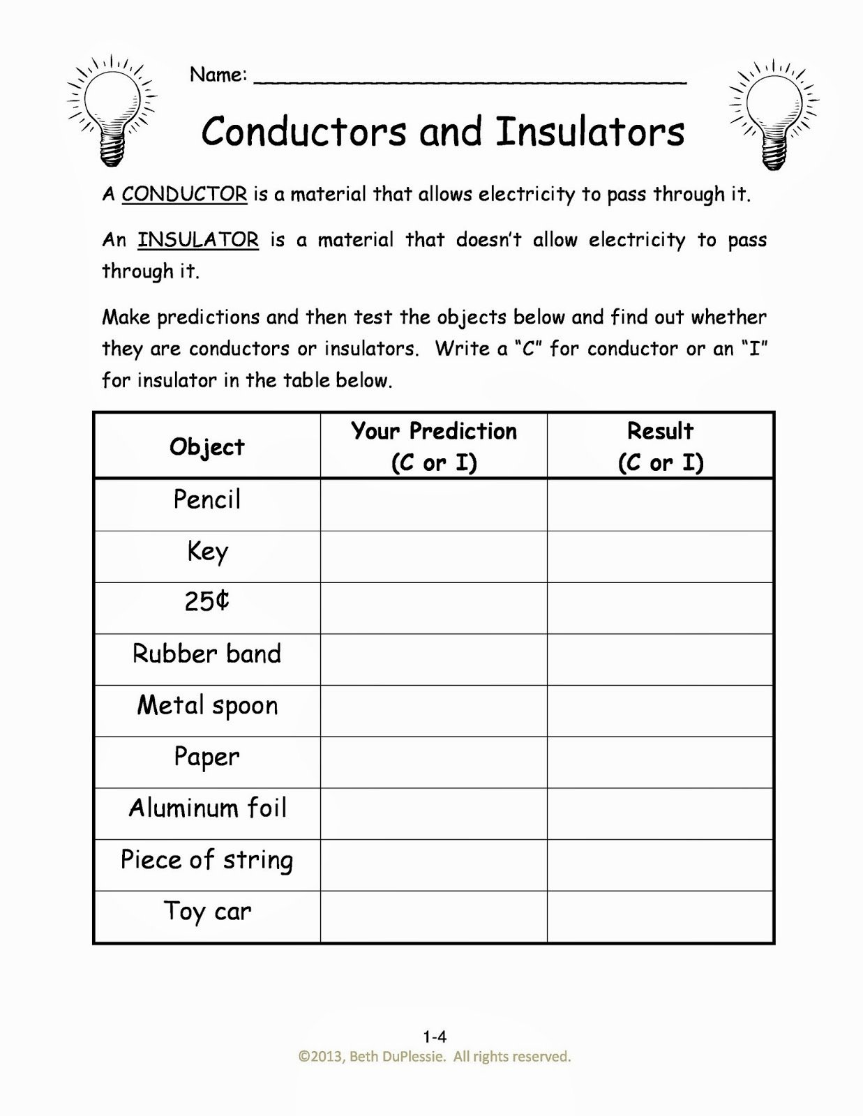 Conductors and Insulators Worksheet Luxury Homeschool Adventures In Engineering Week 5 Mechanical
